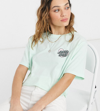 Santa Cruz Heart Dot cropped t-shirt in mint Exclusive at ASOS