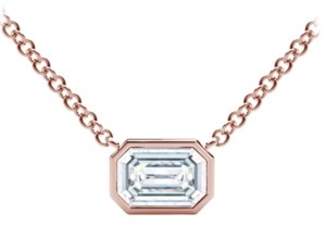 Forevermark Tribute Collection Diamond (1/4 ct. t.w.) Necklace with Mill-Grain in 18k Yellow, White and Rose Gold