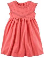 Carter's Toddler Girl Embroidered Babydoll Dress