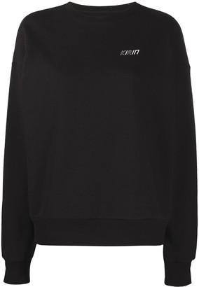 Kirin Logo-Print Crew Neck Sweatshirt