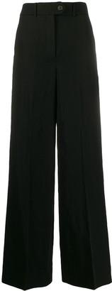 Zanini High-Rise Wide-Leg Trousers