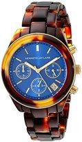 Kenneth Jay Lane Women's KJLANE-4003 4000 Series Analog Display Japanese Quartz Brown Watch