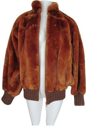 Christian Dior Orange Beaver Jackets