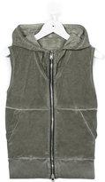 Lost And Found Kids - sleeveless zip sweatshirt - kids - Cotton - 10 yrs