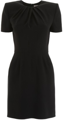 Alexander McQueen Draped Detail Fitted Dress