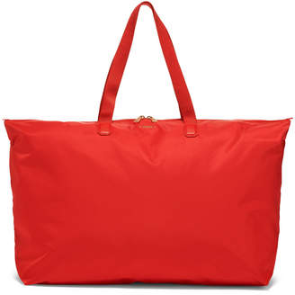 Tumi Red Just In Case Packable Nylon Tote