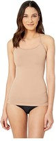 Yummie Ultralight Seamless Smoothing Cami with Lace T-back (Almond/Lace) Women's Sleeveless