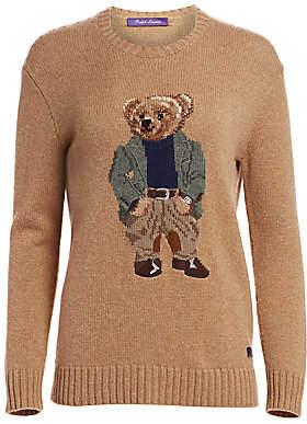 Ralph Lauren Women's Bedford Bear Crewneck Sweater