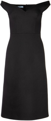 Prada Off-Shoulder Midi Dress