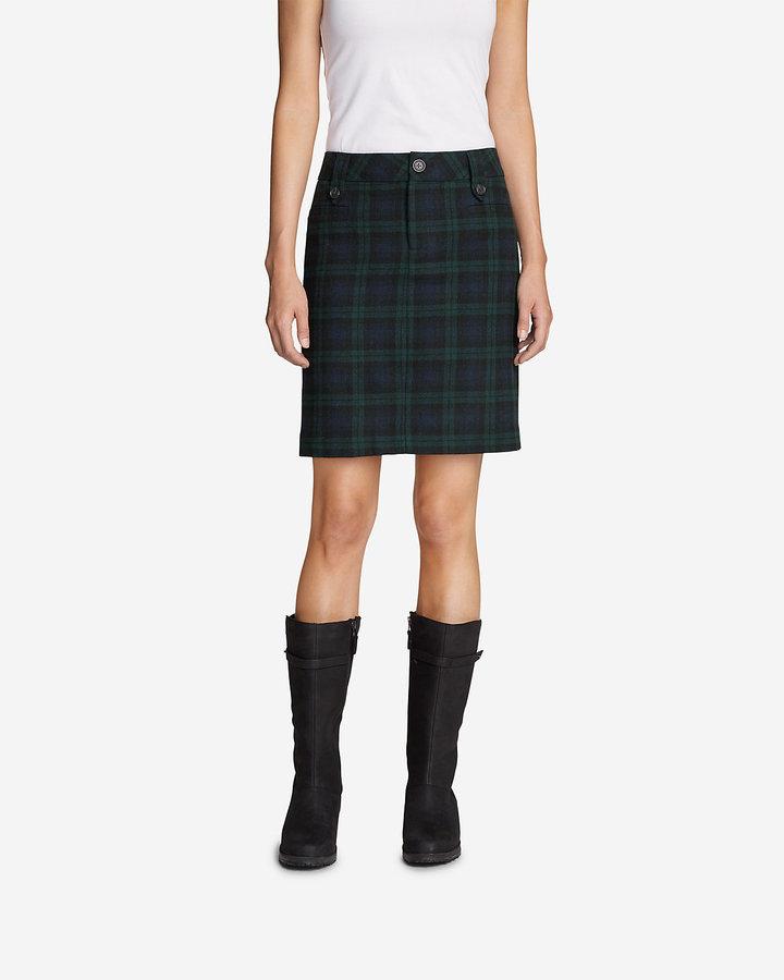 Eddie Bauer Women's Classic Wool-Blend Skirt - Pattern
