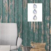 """Jetty Home 8 in. x 10 in. """"Watercolor Oyster Trio"""" Printed Wall Art"""