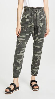 Pam & Gela Folded Waist Camo Pants