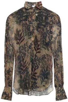 Brunello Cucinelli Printed Silk-georgette Blouse