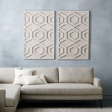 west elm Whitewashed Wood Wall Art - Hexagon