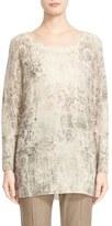 Max Mara 'Salmone' Jacquard Cashmere Sweater