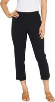 Isaac Mizrahi Live! Regular 24/7 Stretch Crop Pants w/ Hem Detail