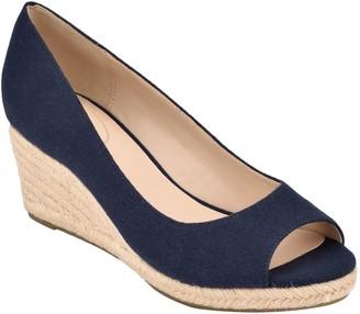 Bandolino Espadrille Inspired Peep Toe Wedge Sandals - Nuri