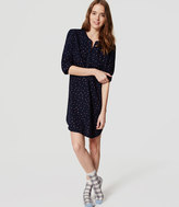 LOFT Dotted Pajama Shirtdress