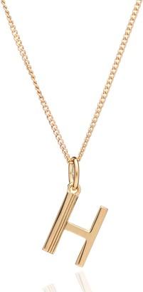 Rachel Jackson London Art Deco Initial Necklace - H