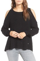 BP Women's Destroyed Cold Shoulder Pullover