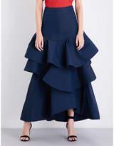 Rosie Assoulin Ruffled high-rise cloqué maxi skirt