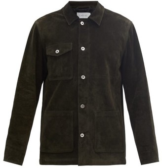 Caruso Suede Workwear Jacket - Dark Green