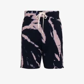 Les Tien tie-dye cotton track shorts