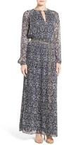 MICHAEL Michael Kors Women's Tapestry Print Pleat Maxi Dress
