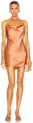Nanushka Lotti Dress in Apricot | FWRD