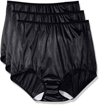 Shadowline Women's Plus-Size Panties-Nylon Brief (3 Pack)