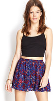 Forever 21 FOREVER 21+ Abstract Print Skater Skirt