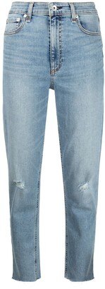 Rag & Bone Cropped Distressed Jeans
