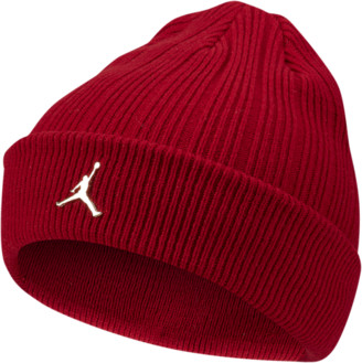Jordan Ignot Cuffed Beanie Hat - Gym Red / Metallic Gold