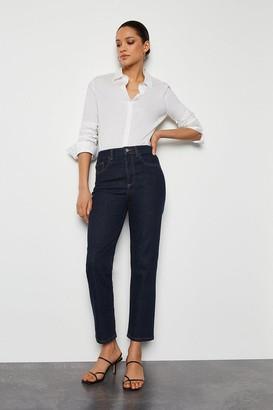 Karen Millen High Rise Indigo Straight Jeans