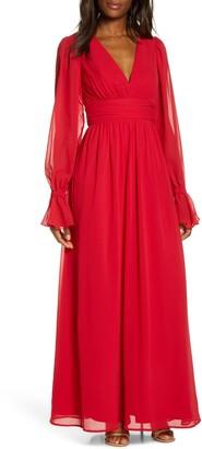 Chi Chi London Yewande Long Sleeve Chiffon Gown