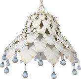 One Kings Lane Vintage Midcentury Crystal Leaf Pendant