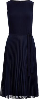 Ralph Lauren Pleated Georgette Dress