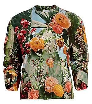 Akris Punto Women's Cactus Blossum Collarless Jacket