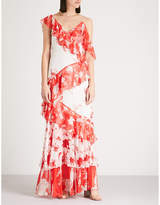 Alice + Olivia Alice & Olivia Olympia asymmetric maxi dress