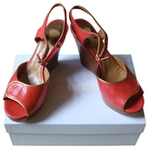 Chloé Red Leather Sandals