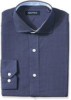 Nautica Men's Circle Print Cutaway Collar Dress Shirt