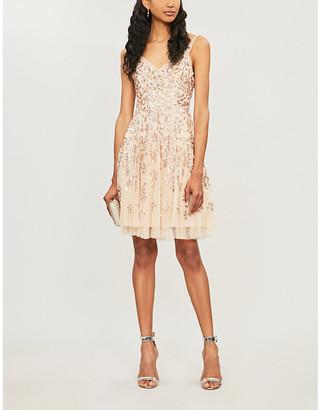 NEEDLE AND THREAD Valentina sequin-embellished chiffon dress