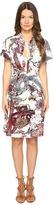 Just Cavalli Short Sleeve Desert Garden Jersey Printed Dress Women's Dress