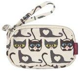 Bungalow 360 Bungalow360 Clutch Mini Coin Purse Wallet w/ Strap - Cats Print