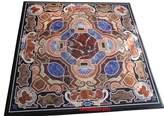 "rkhandicrafts 30"" Square Marble Coffee Table Top Pietra Dura Art Inlay Unique Design"