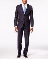 English Laundry Men's Navy Tonal Pattern Slim-Fit Suit