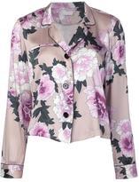 Fleur Du Mal floral print pajama top - women - Silk - L