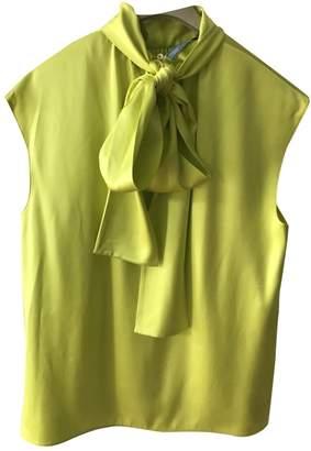Prada Yellow Silk Top for Women