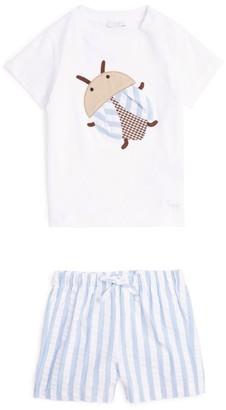 Il Gufo Cotton Bug T-Shirt and Shorts Set (3-36 Months)