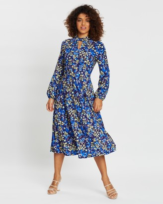 Wallis Petite Cosmic Ditsy Keyhole Dress
